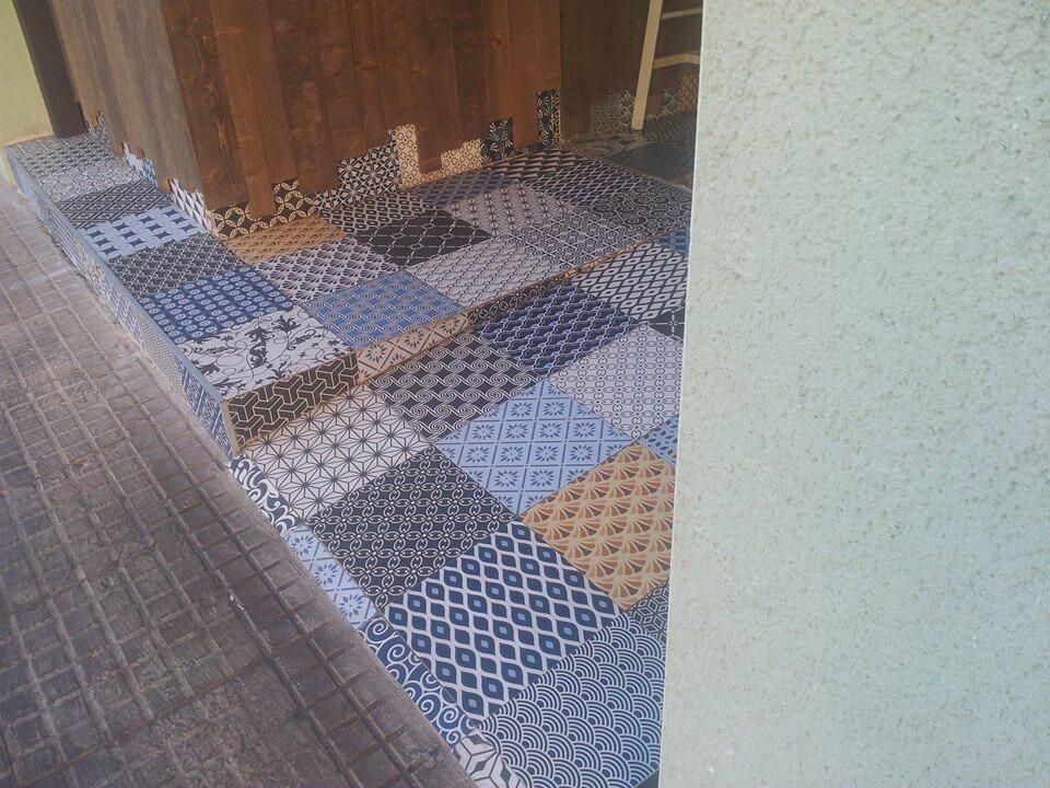 Azulejos Baño Aparici:Azulejo Hidráulico, seria Hydraulic de Aparici utilizada en Reforma