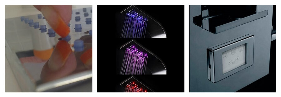 Columnas de ducha con tecnologia musica tetones silicona