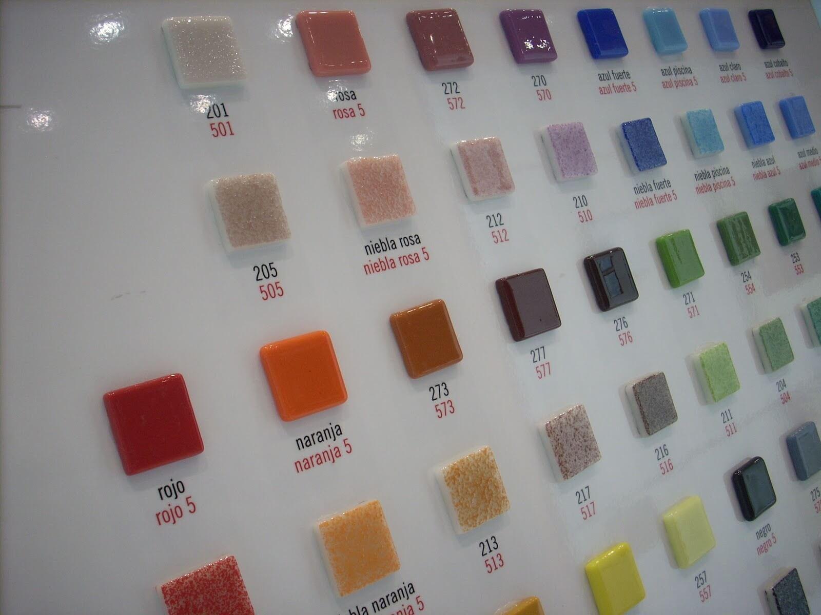 Medidas Azulejos Baño:Gresite con gamas de color azul, amarillo, verde, multicolor o con
