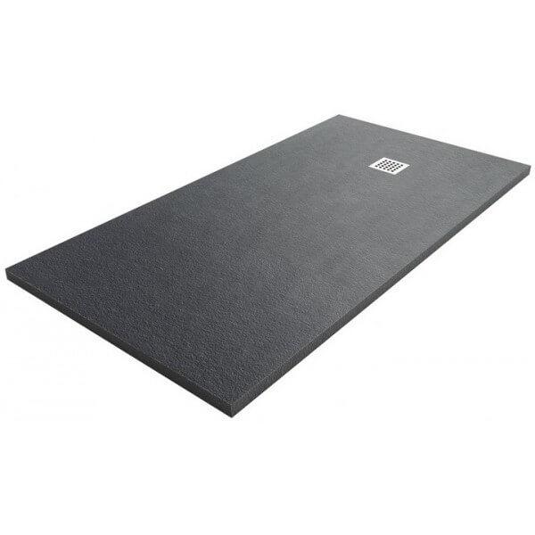 Comprar plato de ducha en color oscuro negro granito - Plato de ducha negro ...