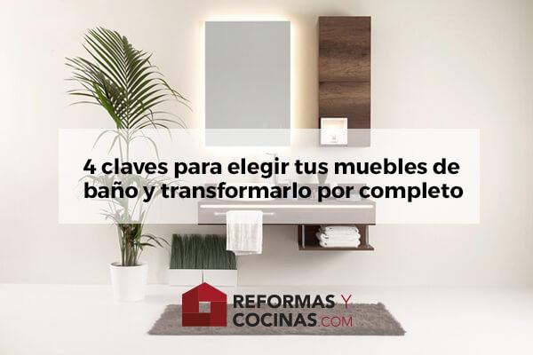 Claves elegir muebles de baño