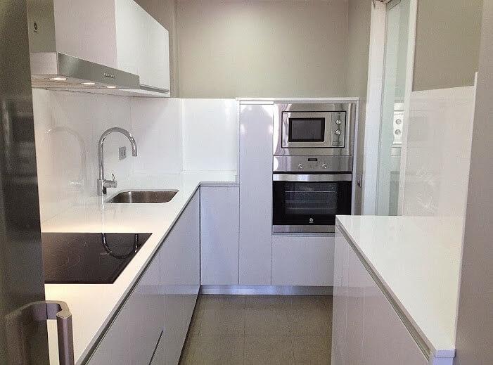 Cocina con Silestone Blanco Zeus Alicante