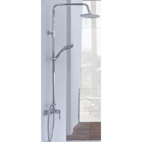 Comprar barra de ducha con rociador redondo portes gratis for Barra ducha extensible