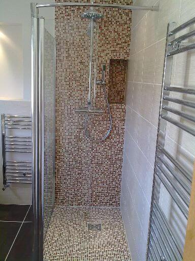 Detalle ducha gresite foto obra reforma alcoy reformas y - Azulejos gresite para duchas ...
