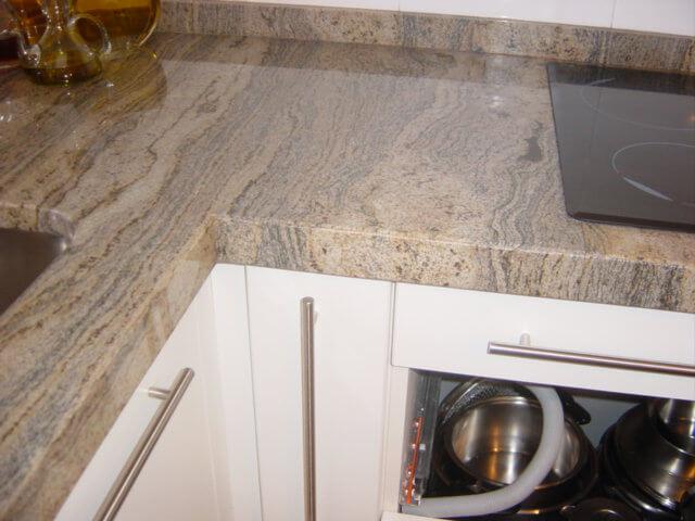 Cantos de encimera los tres tipos de cantos m s usados en cocinas - Granito para encimeras de cocina ...