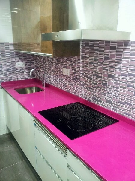 Encimera Silestone Color Rosa Magenta Modelo Energy