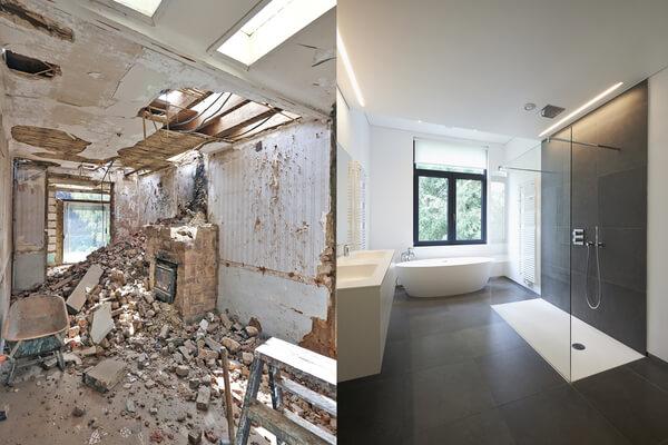 Gres parcelánico reforma baño