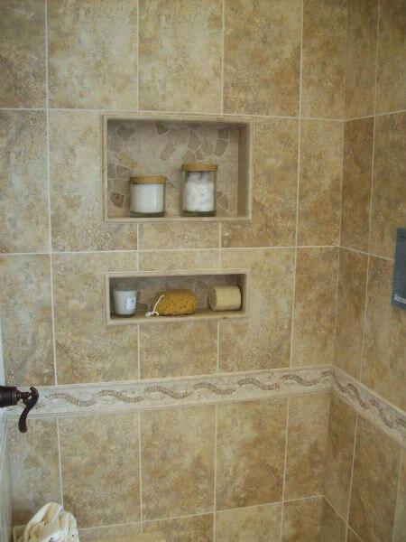Hueco en ducha para jabonero