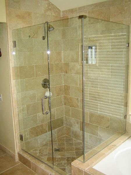 Mampara de ducha obra