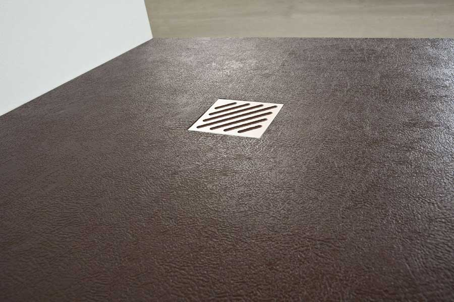 Plato de ducha textura piel antideslizante