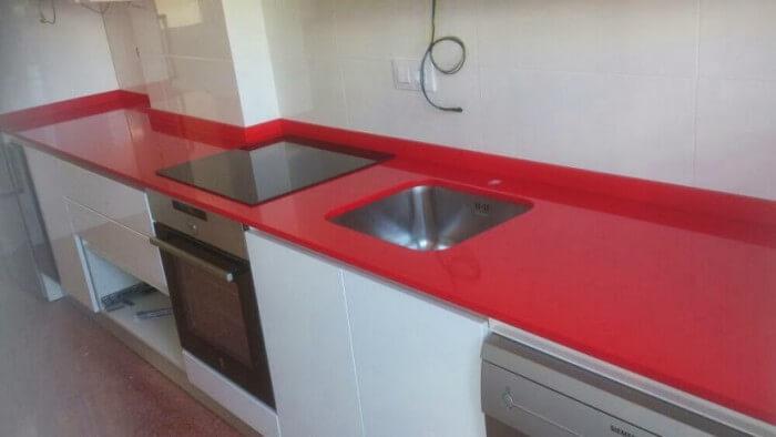 Presupuesto Encimerra Cocina Silestone Roja Monza