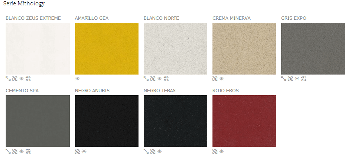 Serie Mithology - Colores - Silestone