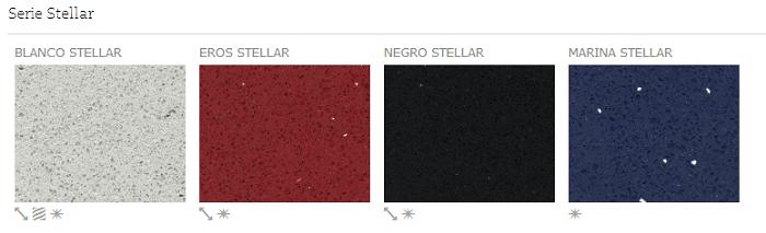 Serie Stellar - Colores - Silestone