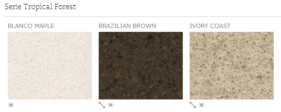 Serie Tropical Forest - Colores - Silestone