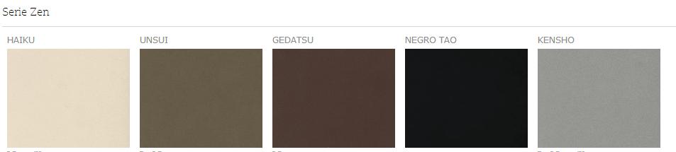 Serie Zen - Silestone - Colores
