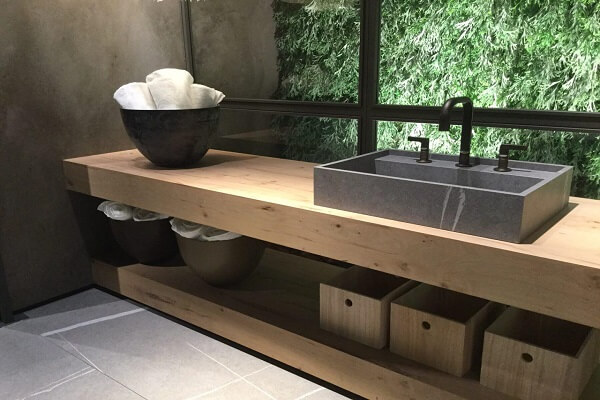 Encimera Baño imitación madera