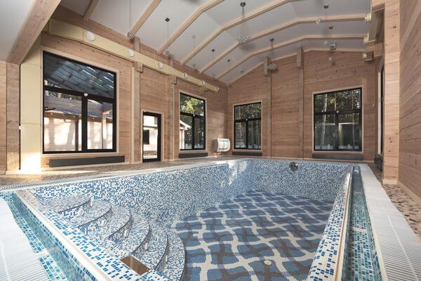 Diseño Gresite en piscina.
