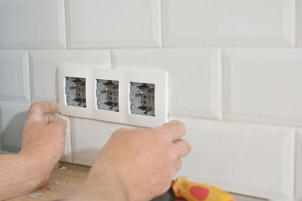 Instalación eléctrica para baños