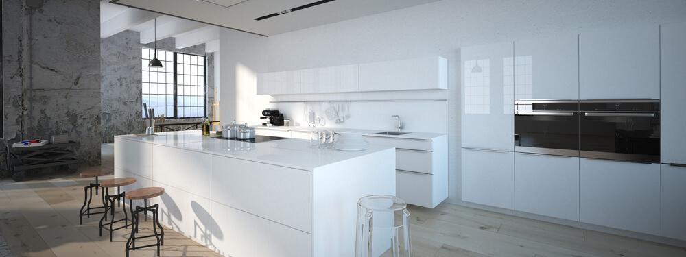 cocina actual blanca