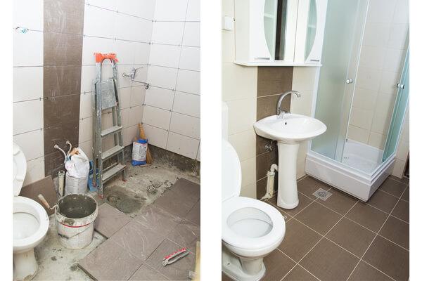 Reforma de baño antes y después de una reforma